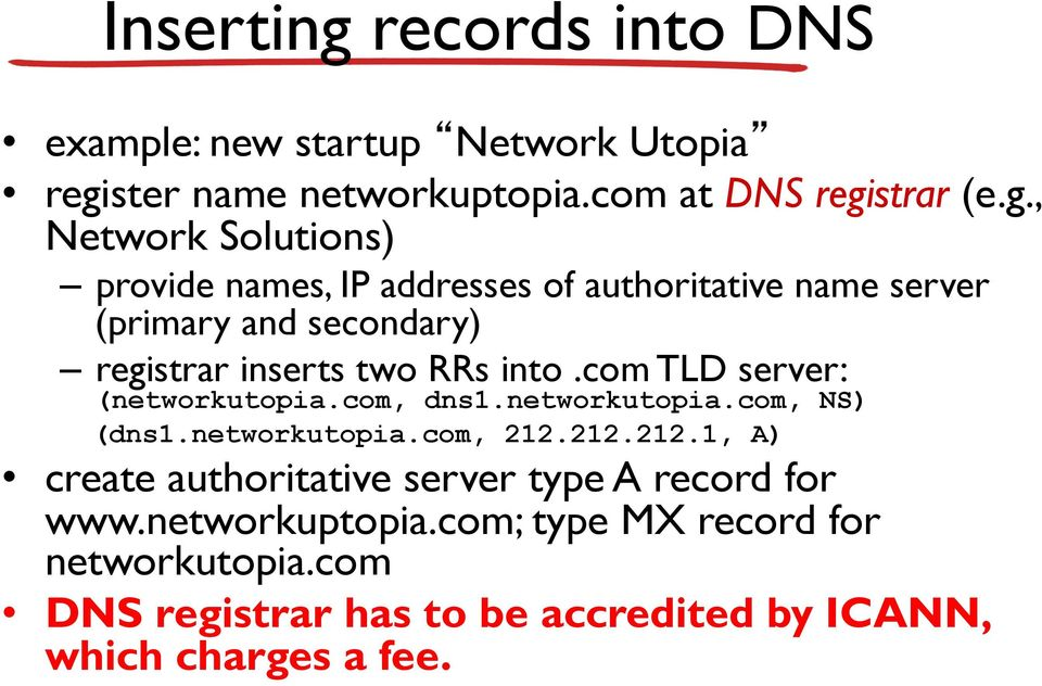 ster name networkuptopia.com at DNS regi