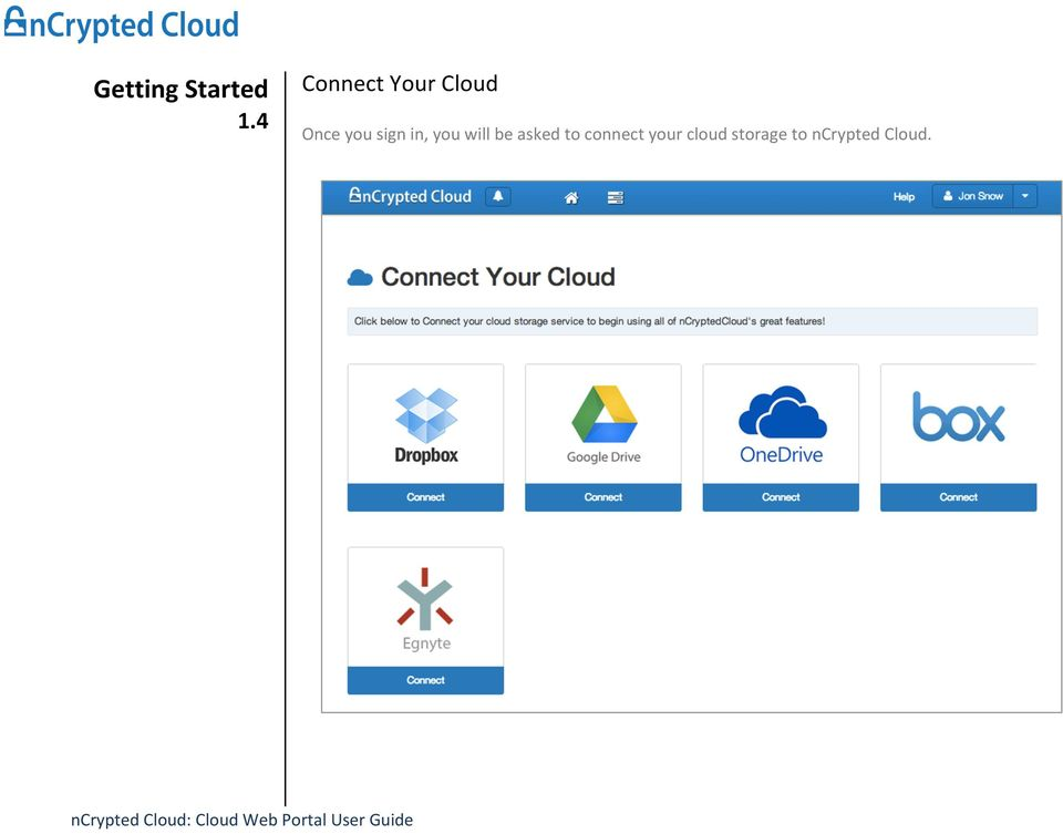 connect your cloud storage to ncrypted