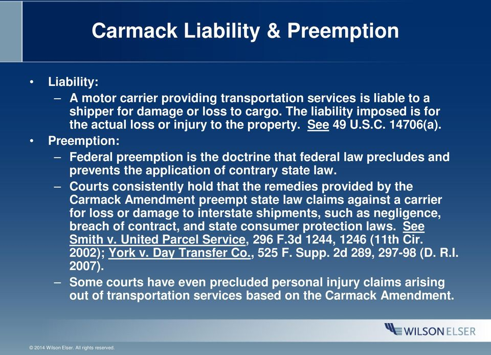 Preemption: Federal preemption is the doctrine that federal law precludes and prevents the application of contrary state law.