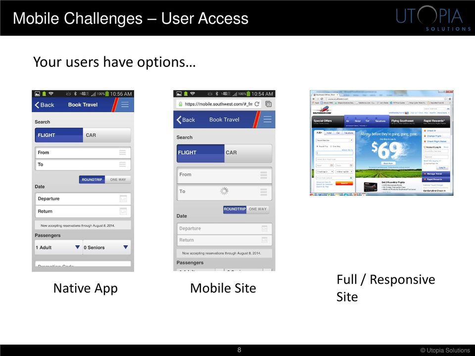 options Native App Mobile