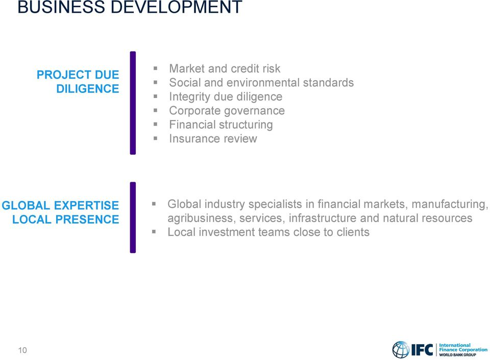 GLOBAL EXPERTISE LOCAL PRESENCE Global industry specialists in financial markets, manufacturing,