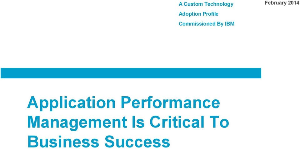 IBM Application Performance