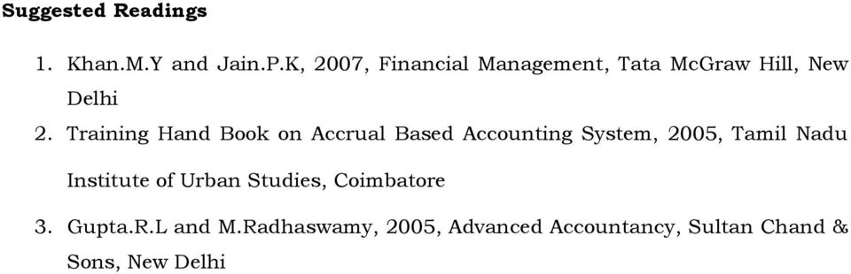 Training Hand Book on Accrual Based Accounting System, 2005, Tamil Nadu