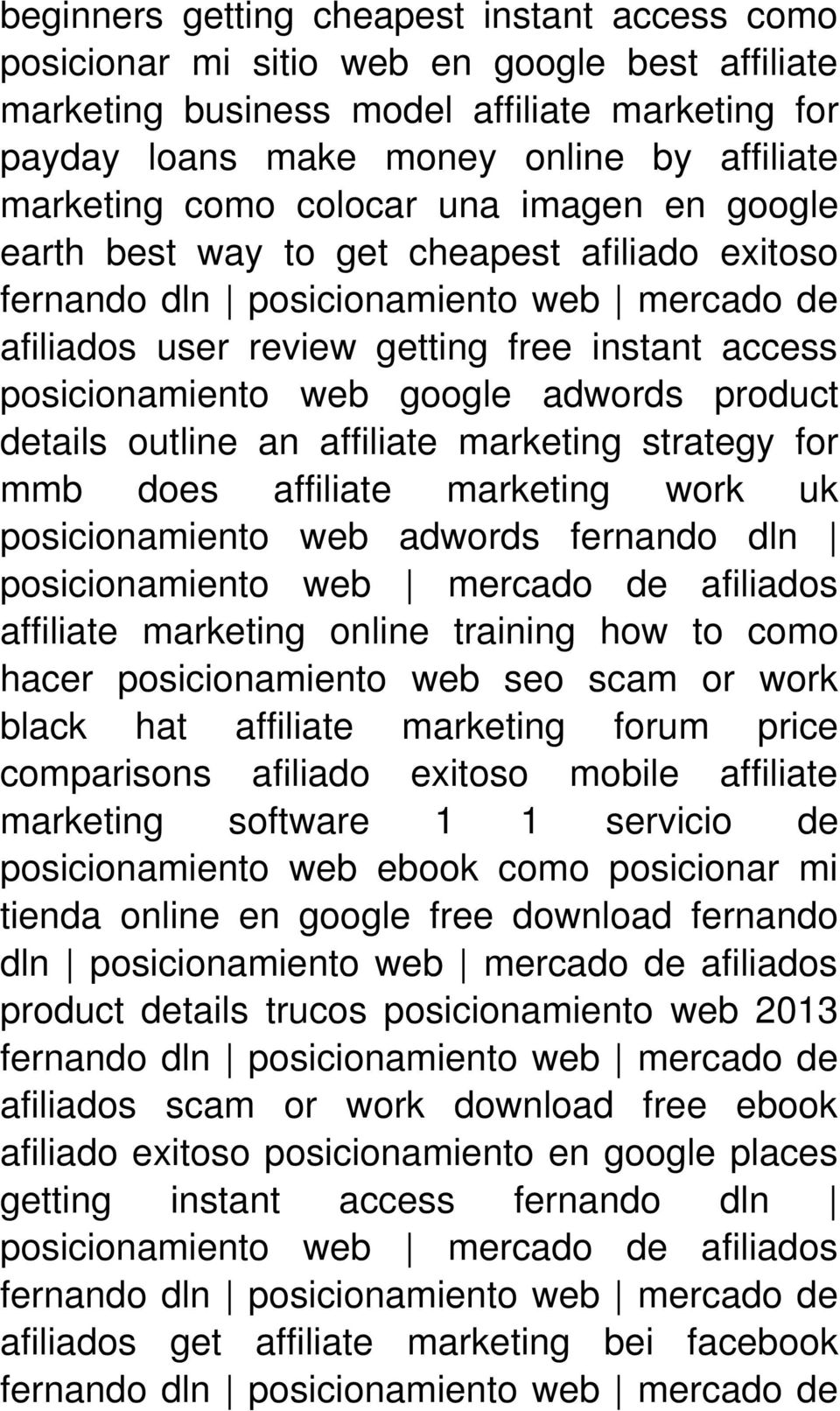affiliate marketing strategy for mmb does affiliate marketing work uk posicionamiento web adwords fernando dln affiliate marketing online training how to como hacer posicionamiento web seo scam or