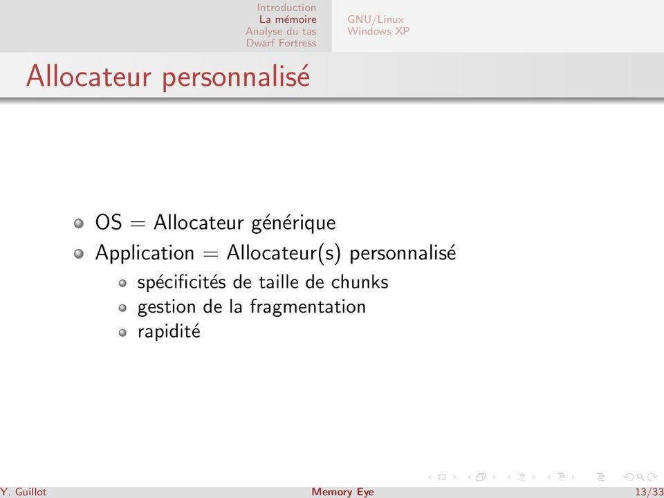 Application = Allocateur(s) personnalisé