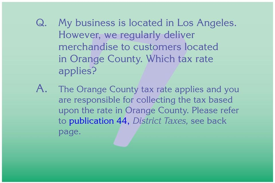 Which tax rate applies? A.