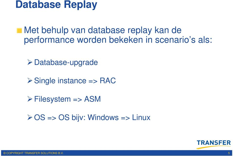 Database-upgrade Single instance => RAC Filesystem =>