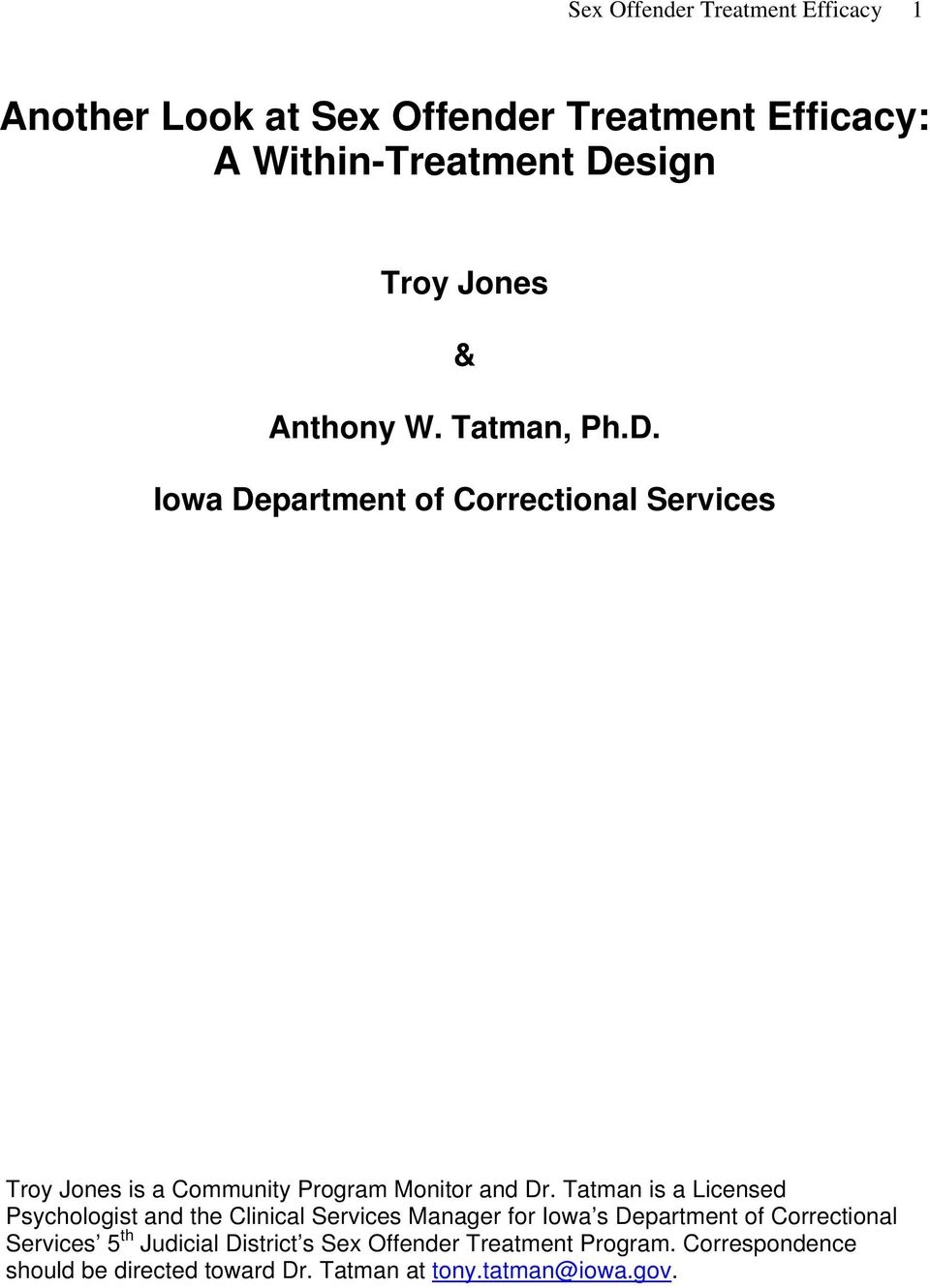 Sex offender treatment providers in iowa