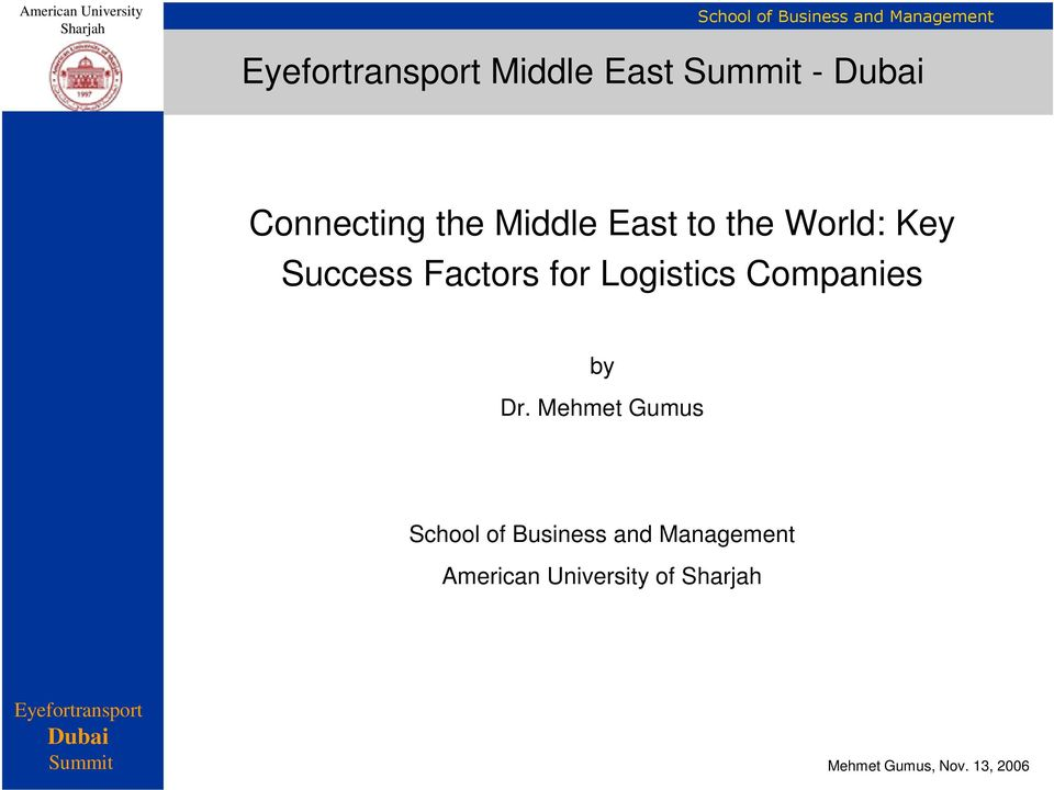 Factors for Logistics Companies by
