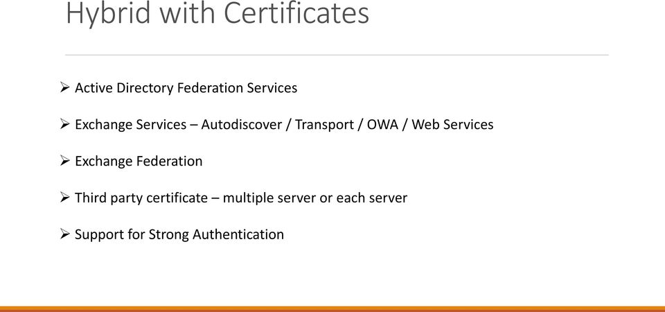 / Web Services Exchange Federation Third party certificate