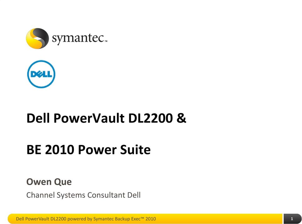 Consultant Dell Dell PowerVault