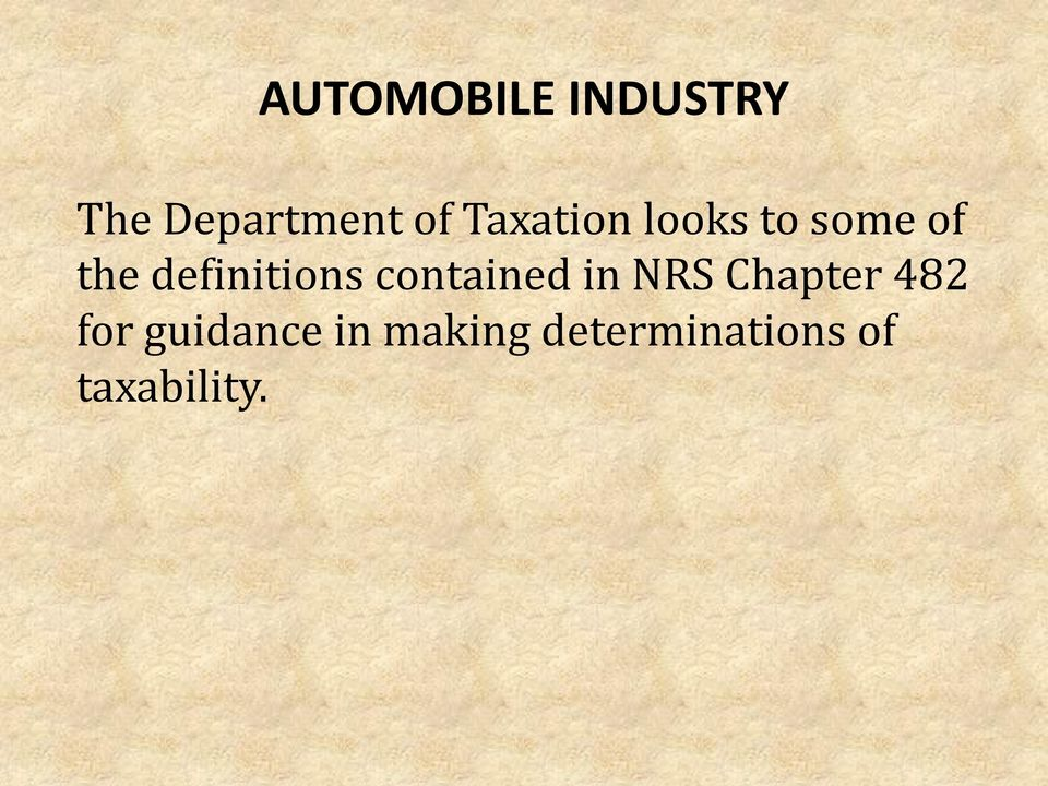 definitions contained in NRS Chapter 482
