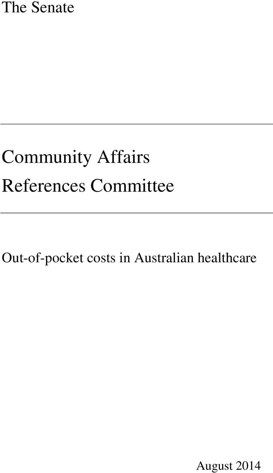 Committee Out-of-pocket