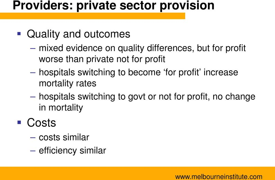 switching to become for profit increase mortality rates hospitals switching to