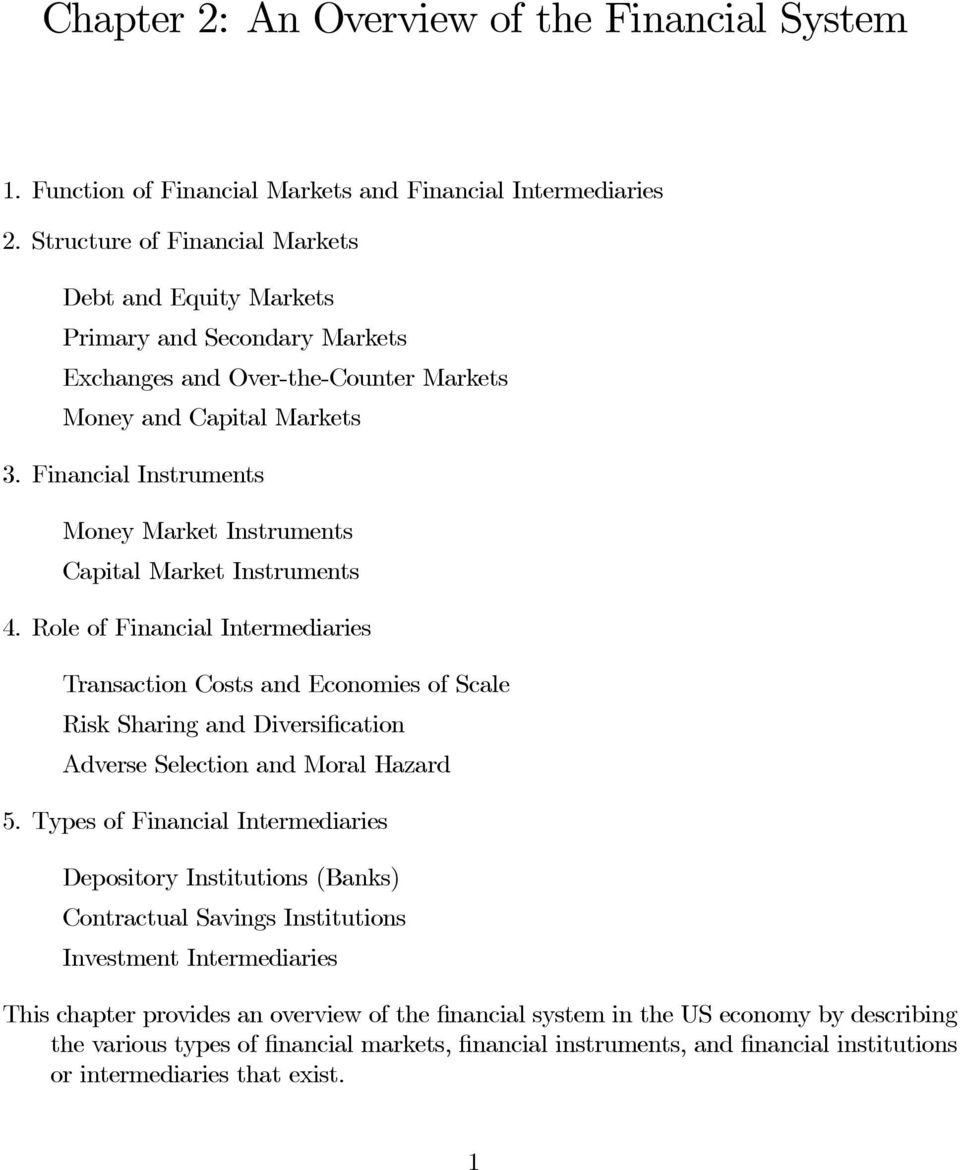 Financial Instruments Money Market Instruments Capital Market Instruments 4.