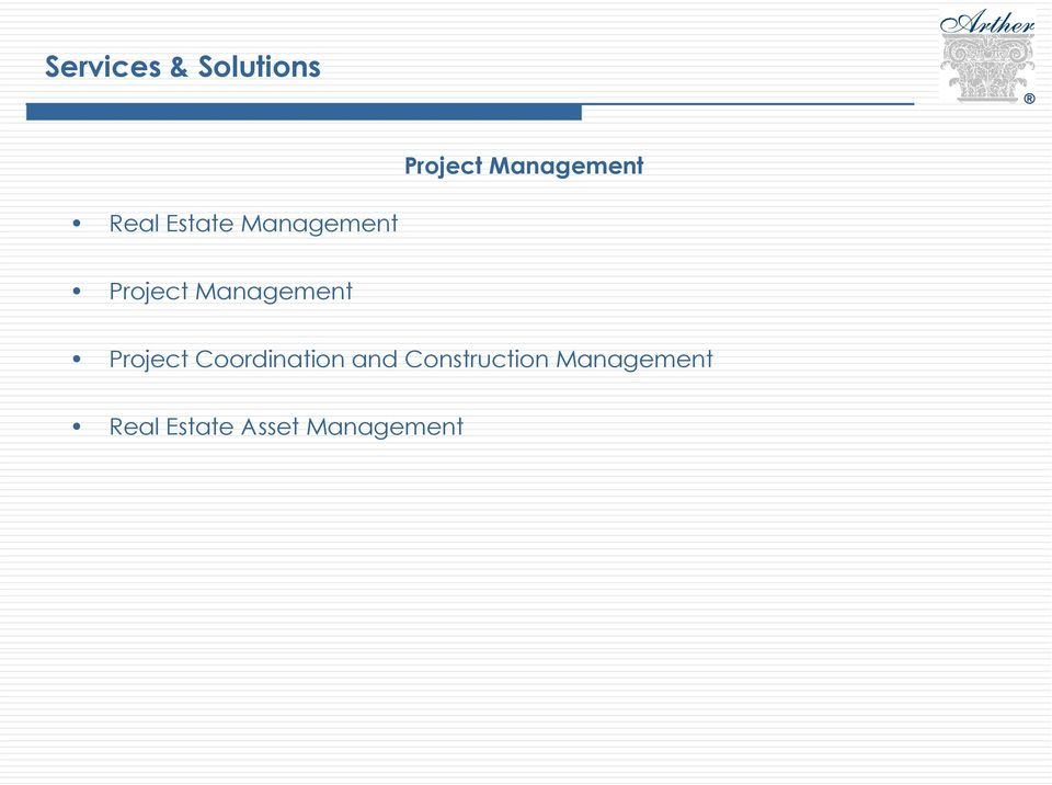 Management Project Coordination and