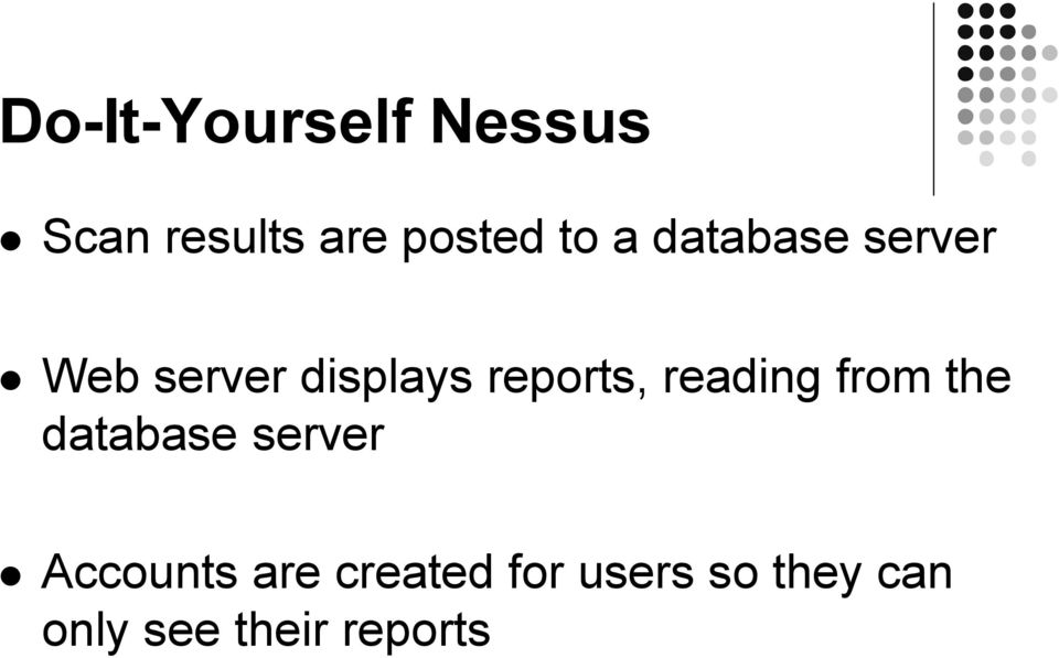 reading from the database server Accounts are