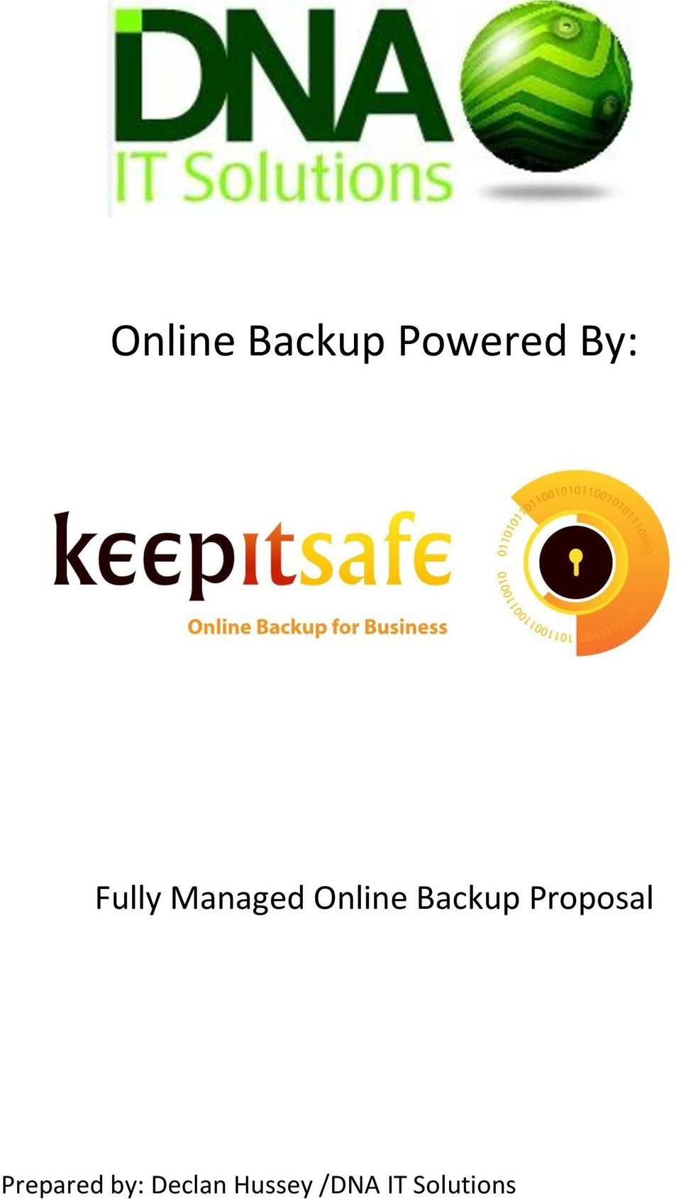 Backup Proposal Prepared