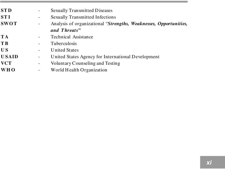 Technical Assistance TB - Tuberculosis US - United States USAID - United States Agency