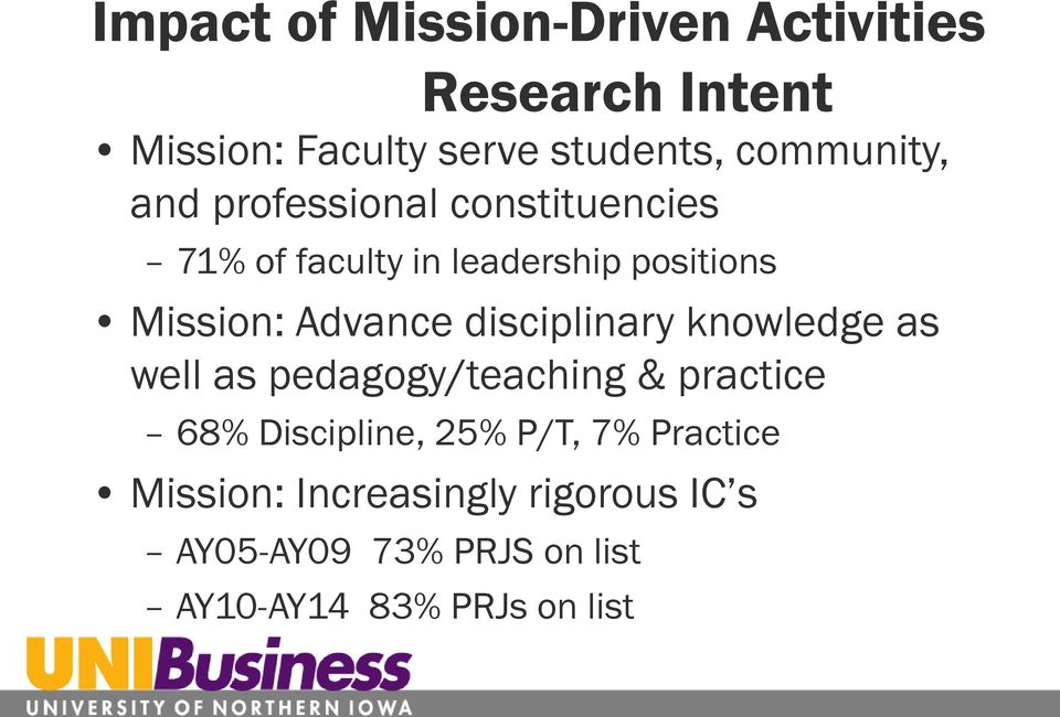 Advance disciplinary knowledge as well as pedagogy/teaching & practice 68% Discipline, 25%