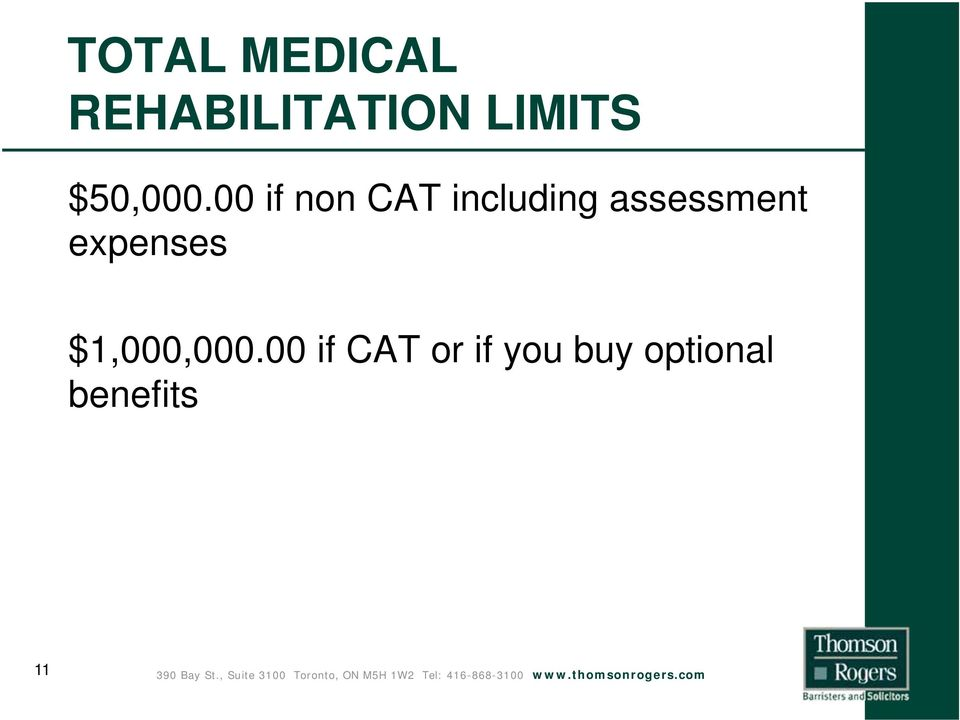 00 if non CAT including assessment