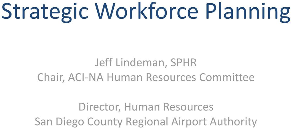 Resources Committee Director, Human