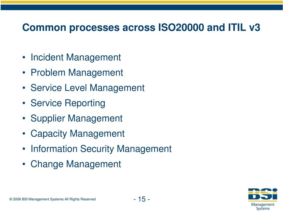 Service Reporting Supplier Management Capacity