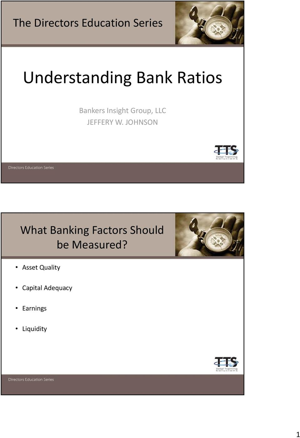 JOHNSON What Banking Factors Should be Measured?
