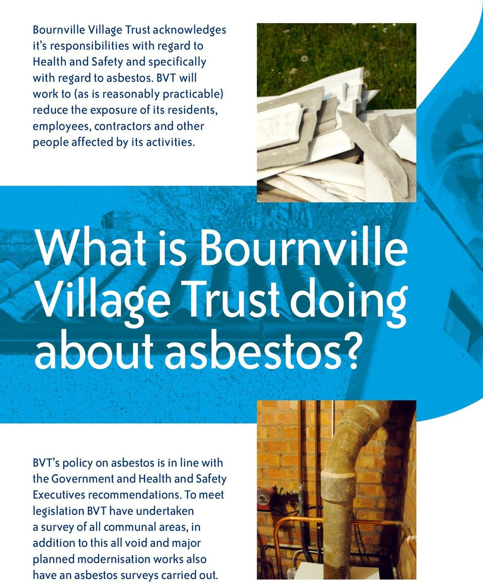 What is Bournville Village Trust doing about asbestos?