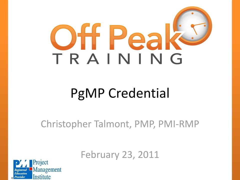 Talmont, PMP,