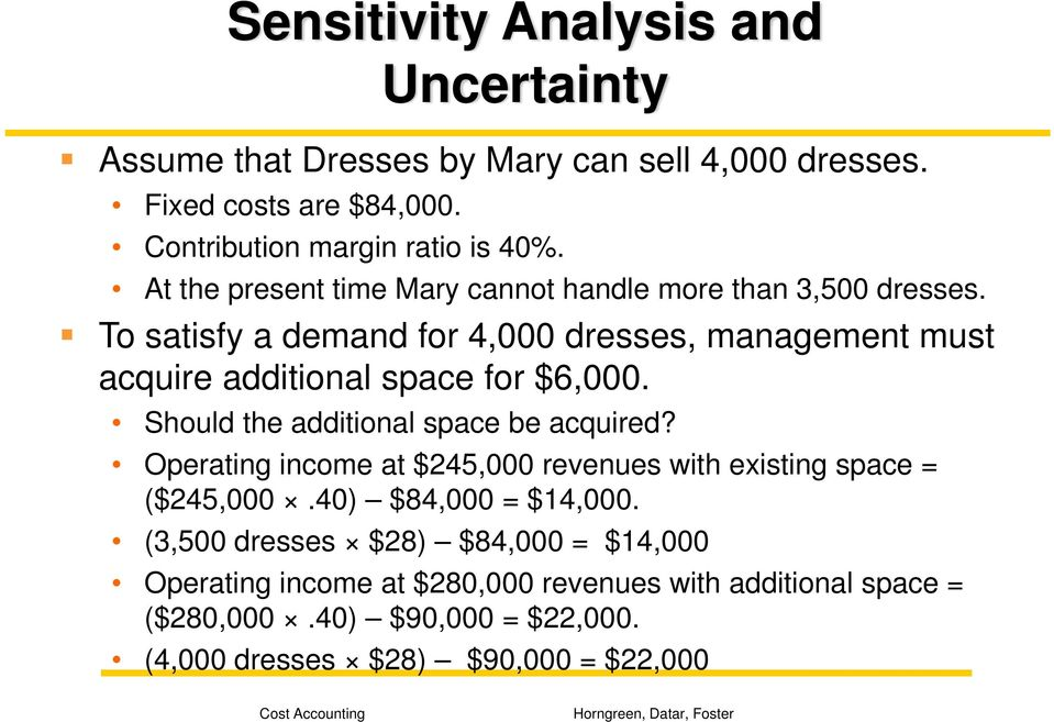 To satisfy a demand for 4,000 dresses, management must acquire additional space for $6,000. Should the additional space be acquired?