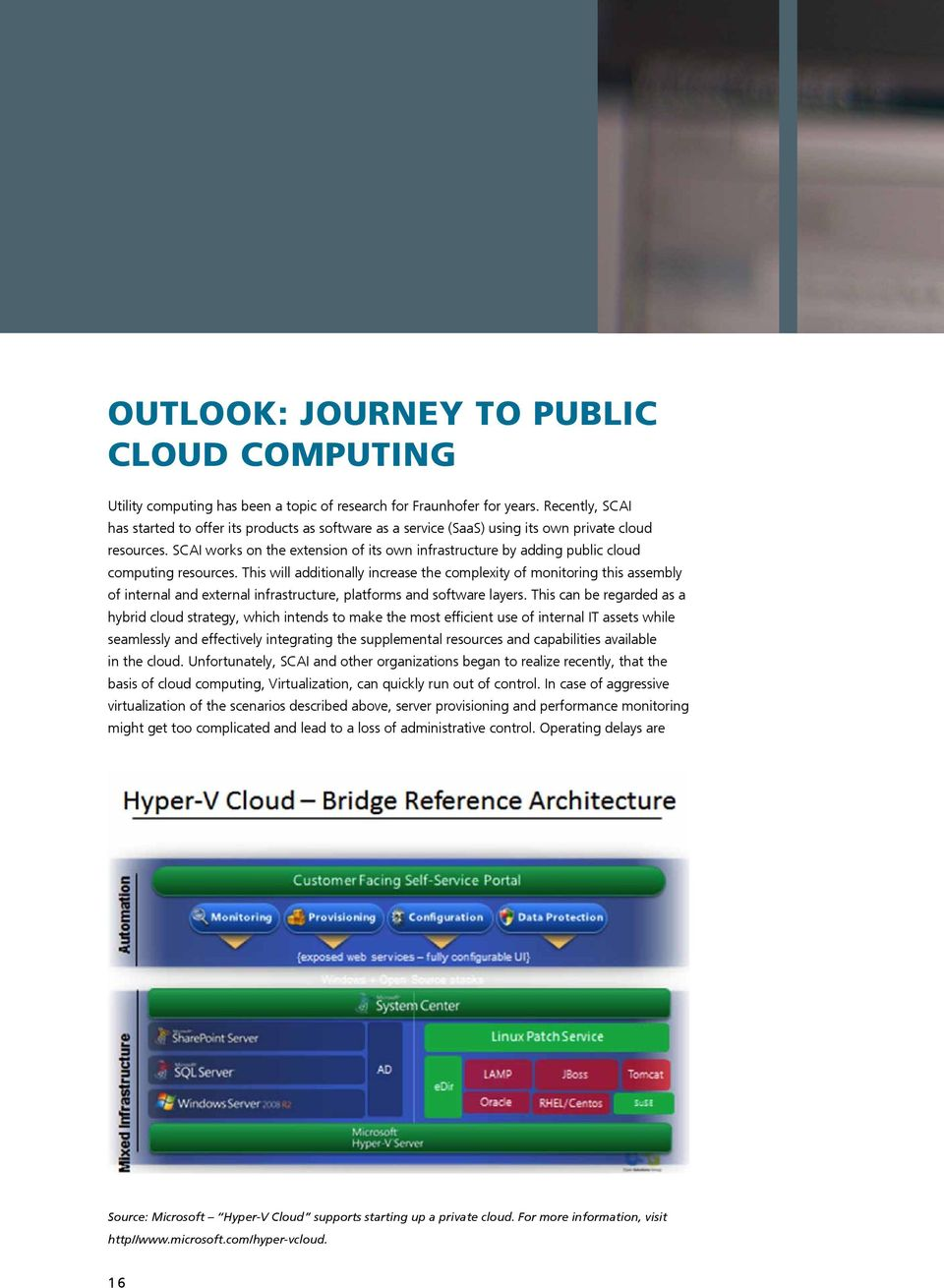 SCAI works on the extension of its own infrastructure by adding public cloud computing resources.