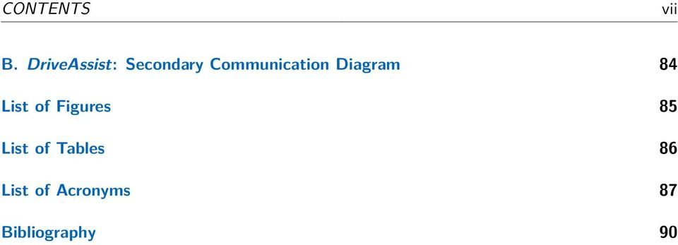 Communication Diagram 84 List of
