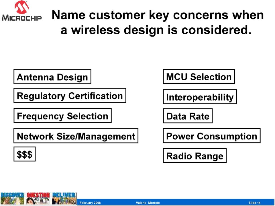 Network Size/Management $$$ MCU Selection Interoperability Data