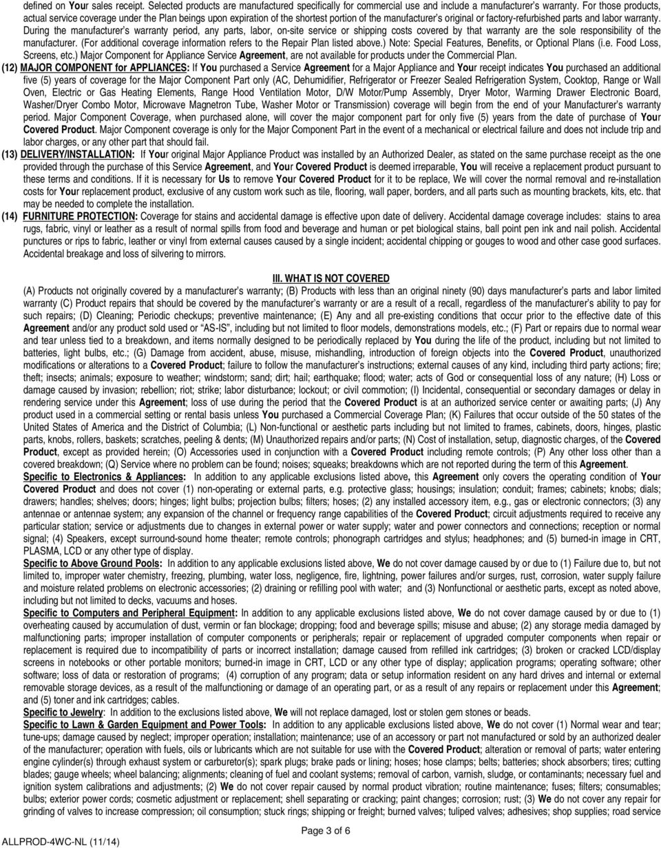 EXTENDED SERVICE AGREEMENT This Agreement Is Not A