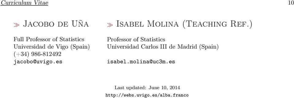 es Isabel Molina (Teaching Ref.