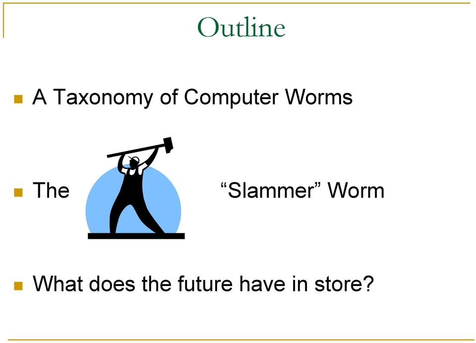 Slammer Worm What does