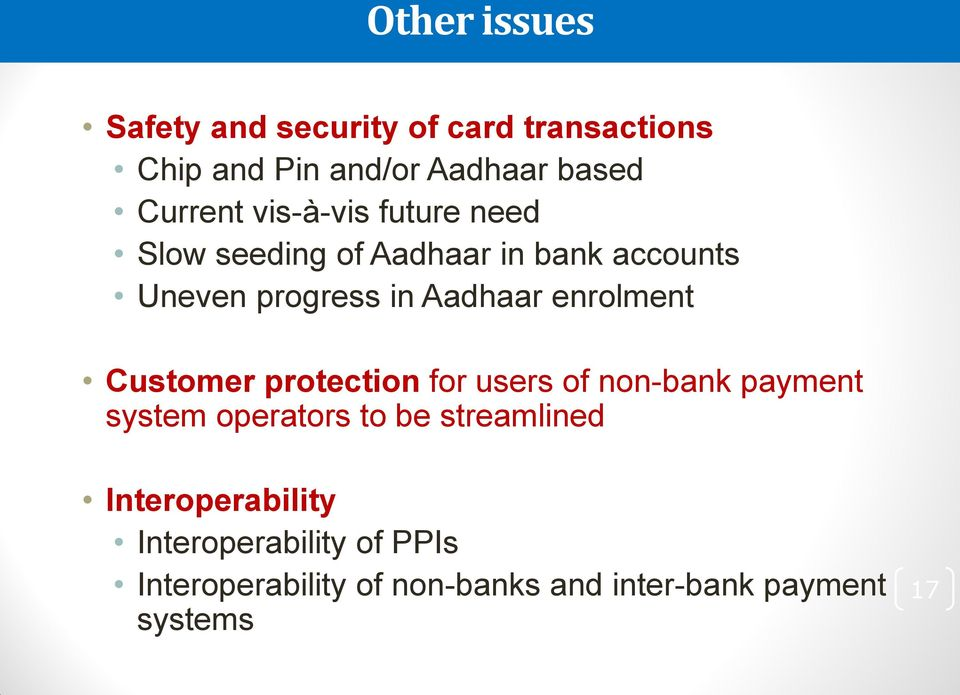 enrolment Customer protection for users of non-bank payment system operators to be streamlined