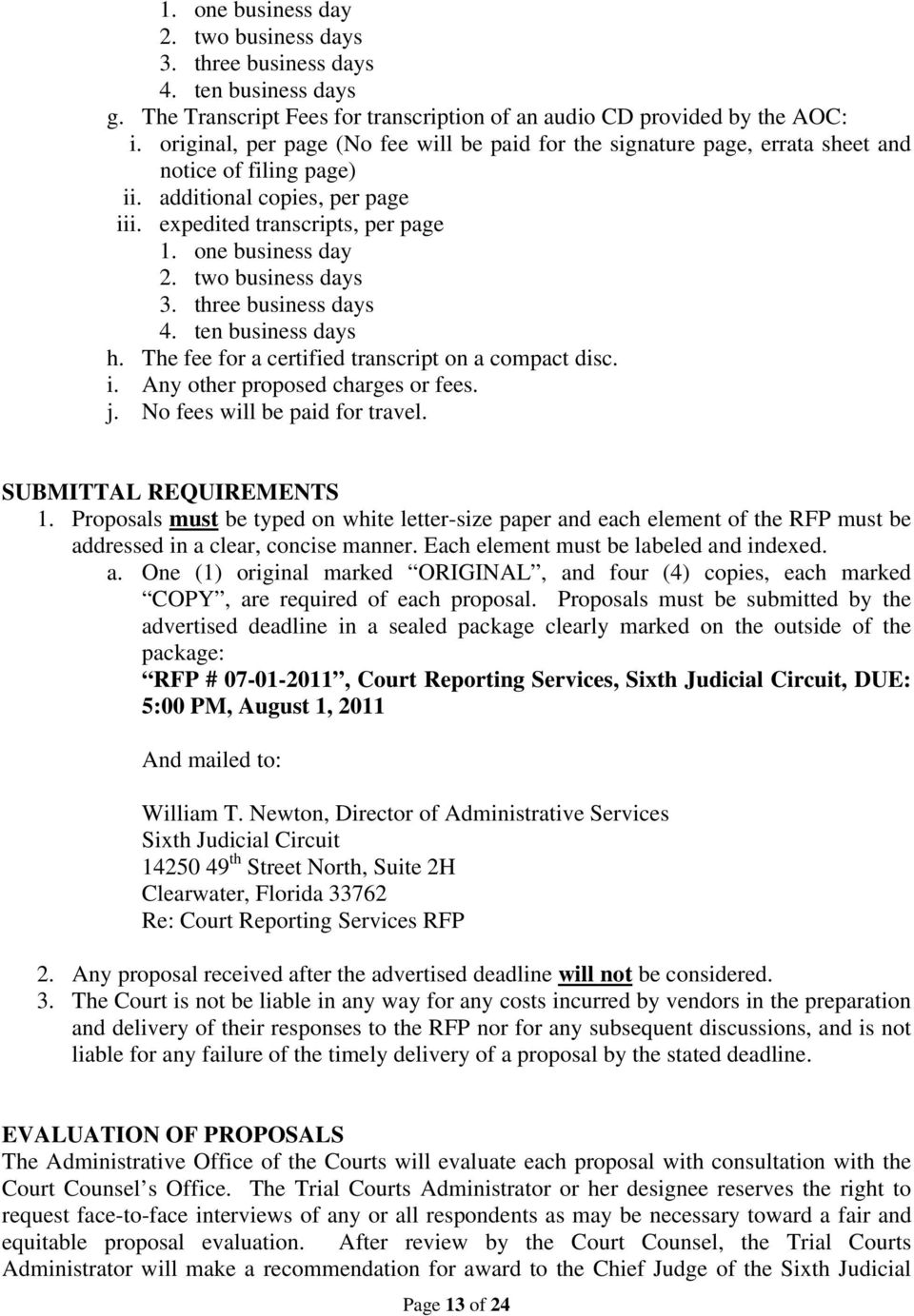 REQUEST FOR PROPOSALS COURT REPORTING SERVICES - PDF