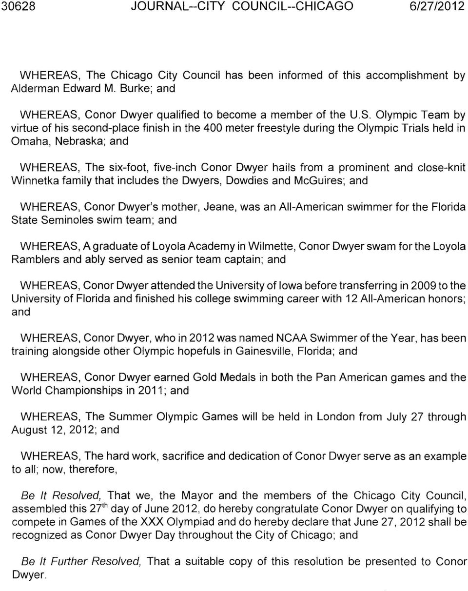 Conor Dwyer qualified to become a member of the U.S.