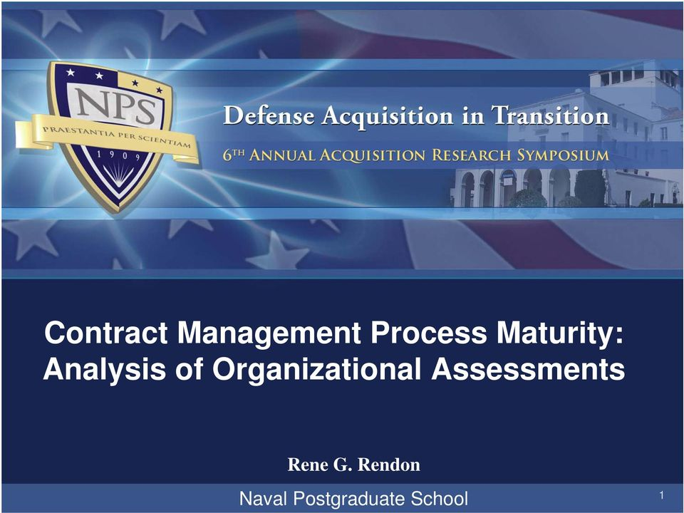 Organizational Assessments