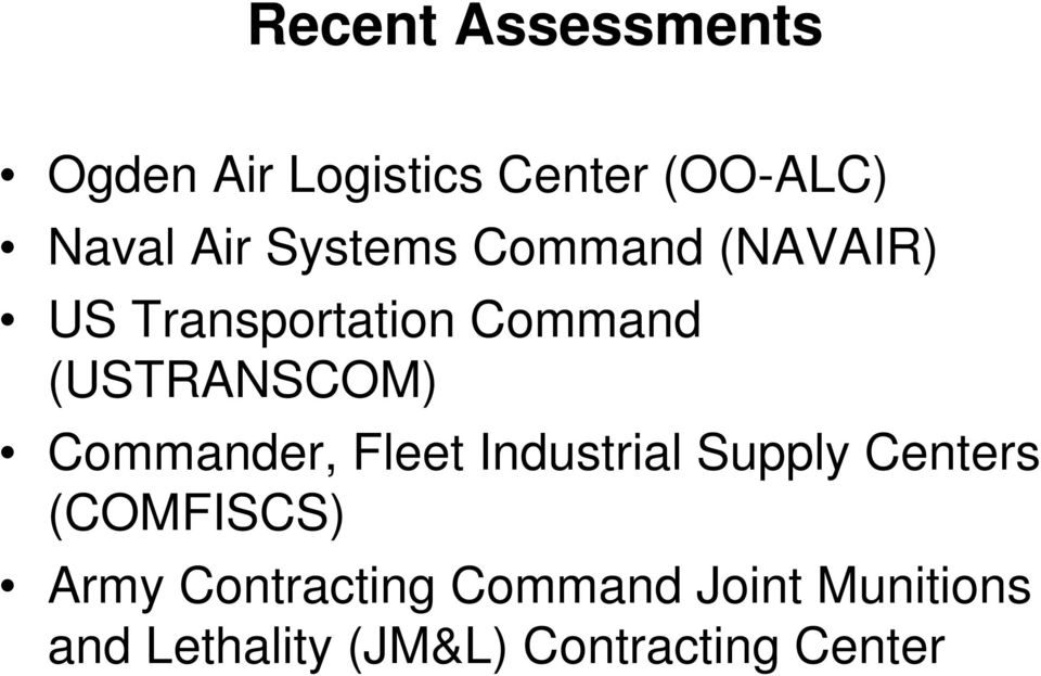 Commander, Fleet Industrial Supply Centers (COMFISCS) Army