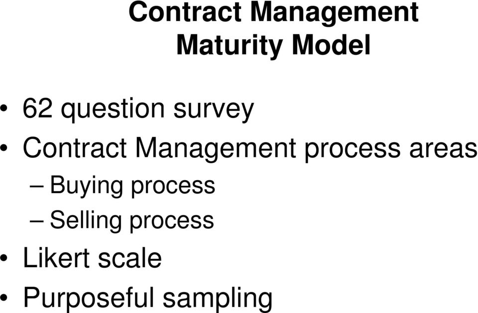 process Selling process Contract