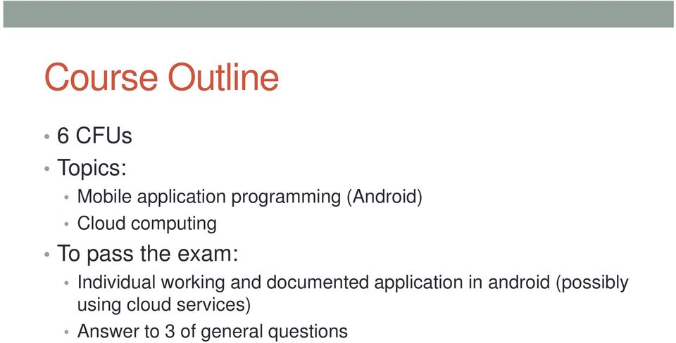 Individual working and documented application in android