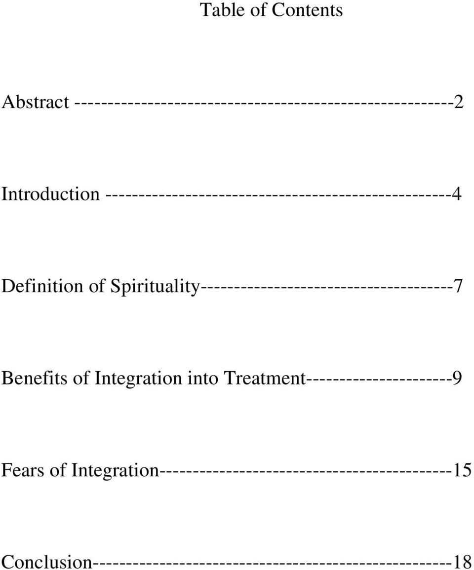 Spirituality--------------------------------------7 Benefits of Integration into