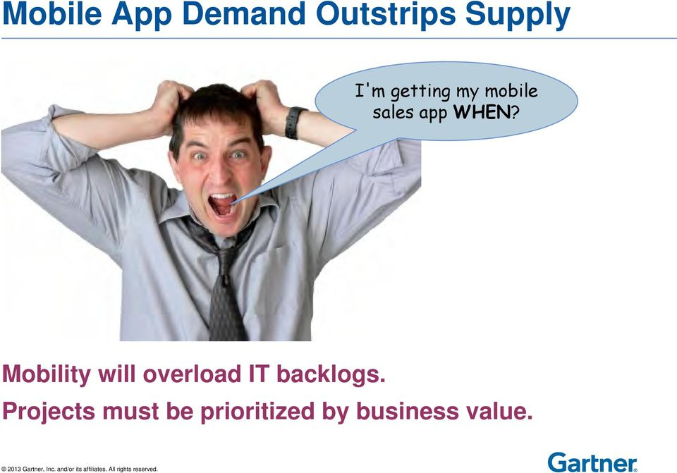 Mobility will overload IT backlogs.