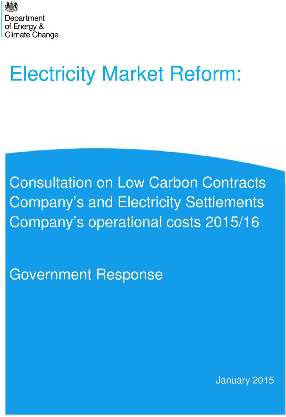 Electricity Settlements Company s