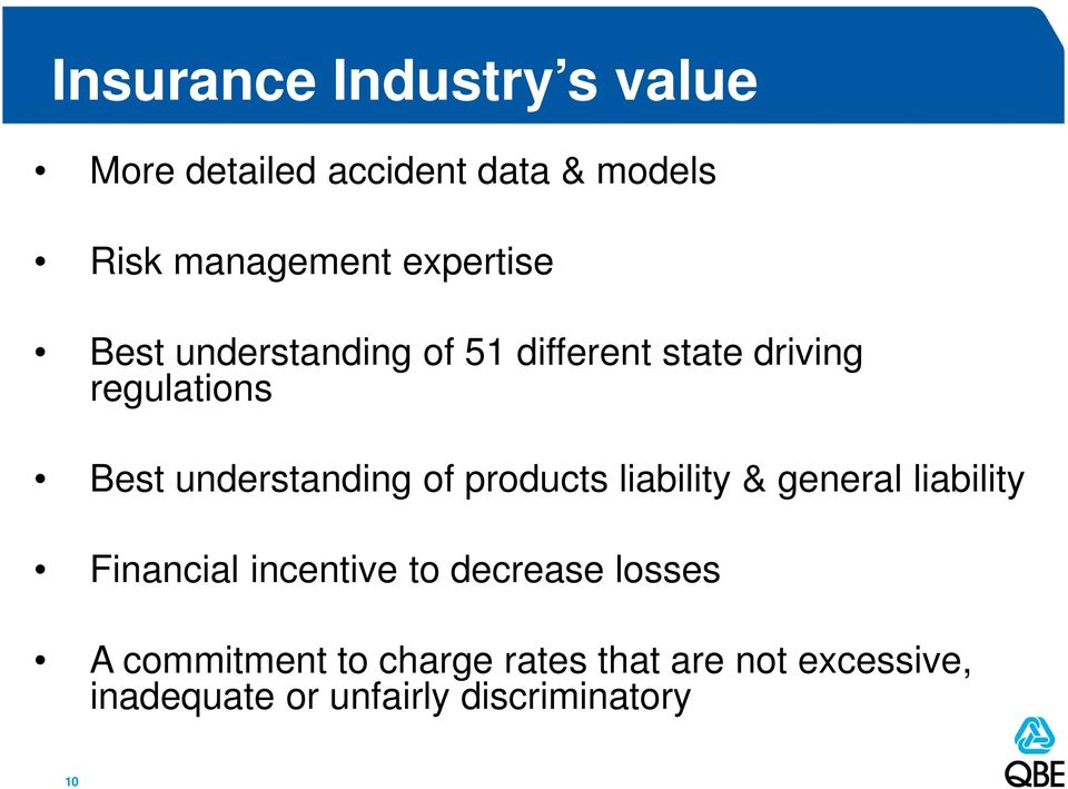 understanding of products liability & general liability Financial incentive to