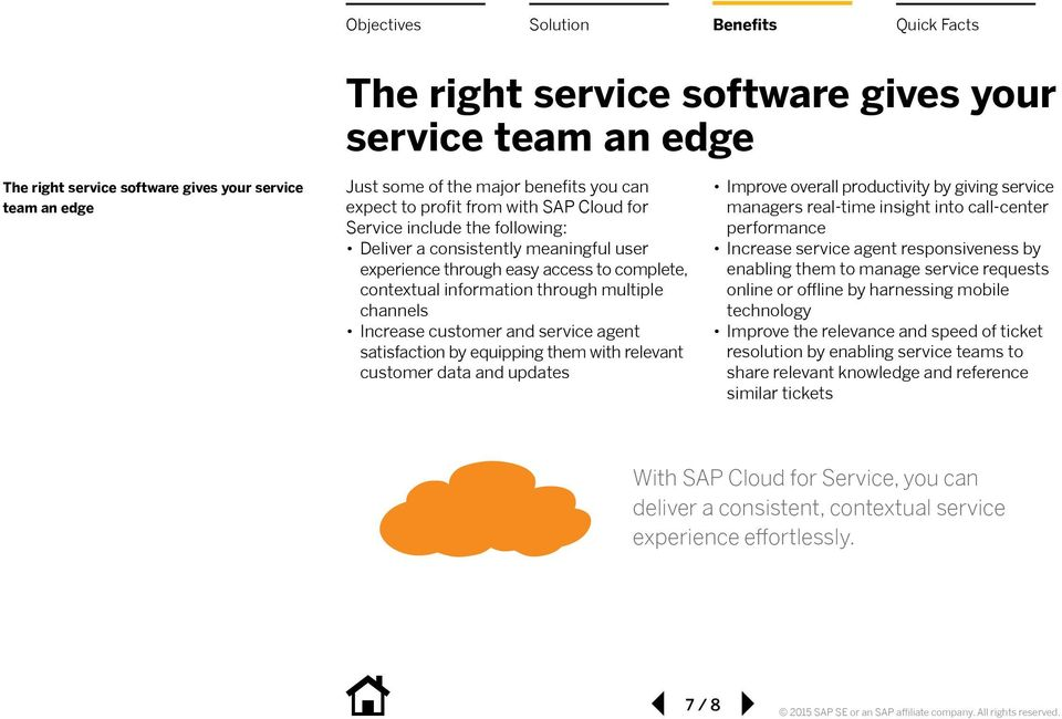 satisfaction by equipping them with relevant customer data and updates Improve overall productivity by giving service managers real-time insight into call-center performance Increase service agent