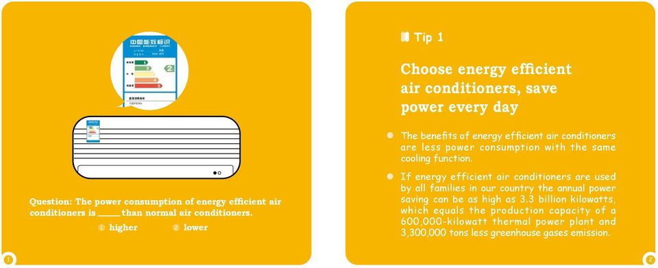 Question: The power consumption of energy efficient air conditioners is than normal air conditioners.